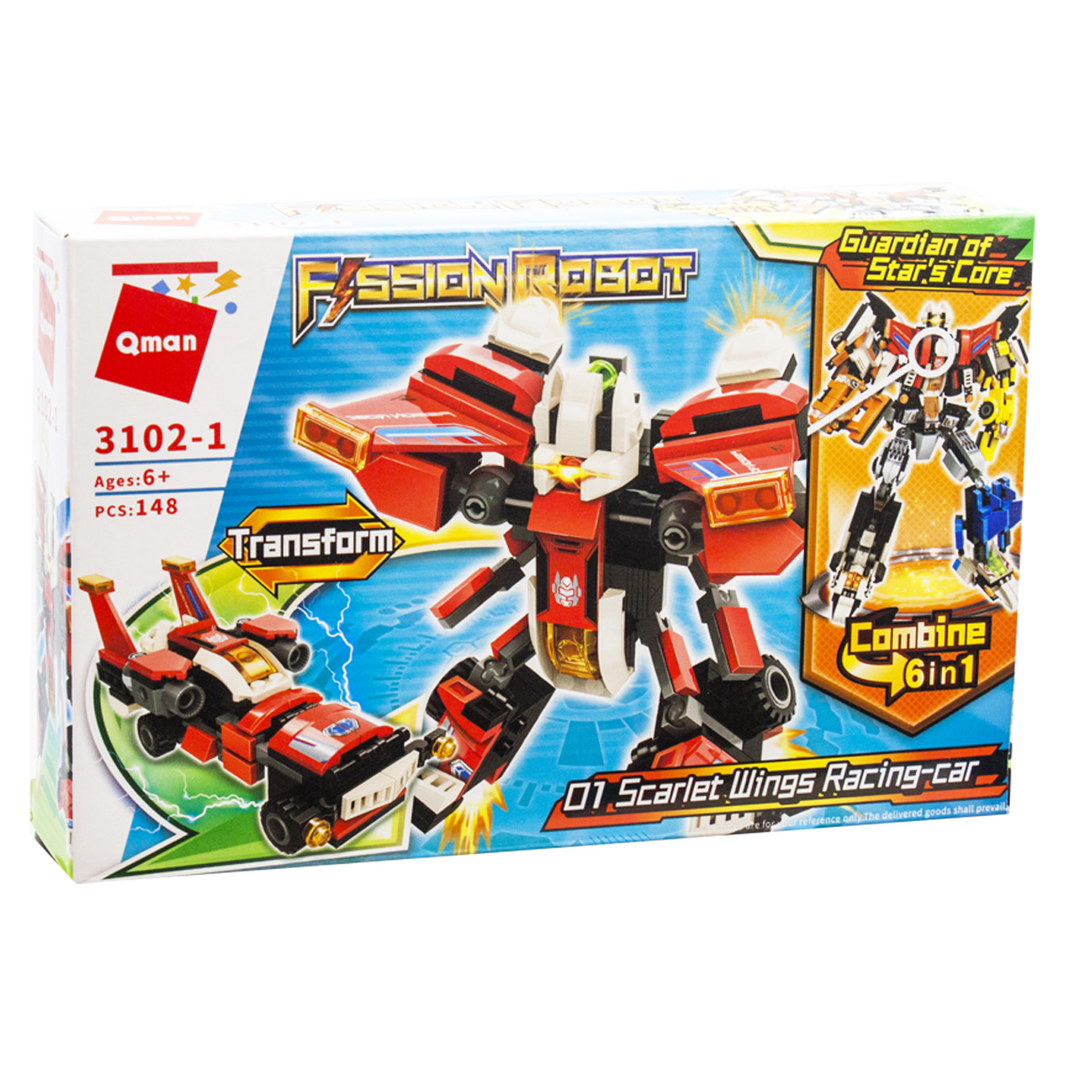 "Конструктор ""Fission robot: Scarlet Wings"", 148 деталей"