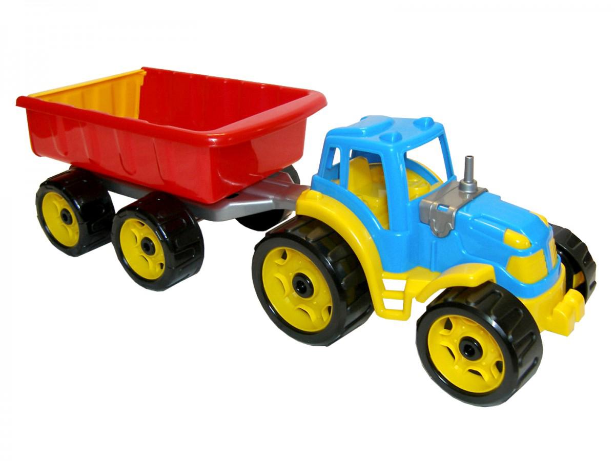 Трактор с прицепом ТехноК (синий) (3442) оптом ...