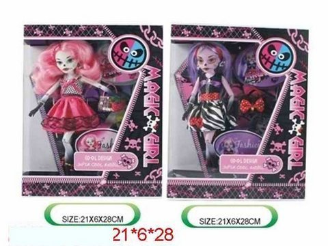 "Кукла ""Monster High"", 2 вида, с аксесс. , в кор.  21х6х28 /48-2/"
