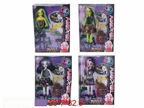 "Кукла ""Monster High"", 4 вида, с аксесс. , в кор.  23х7х32 /48-2/"
