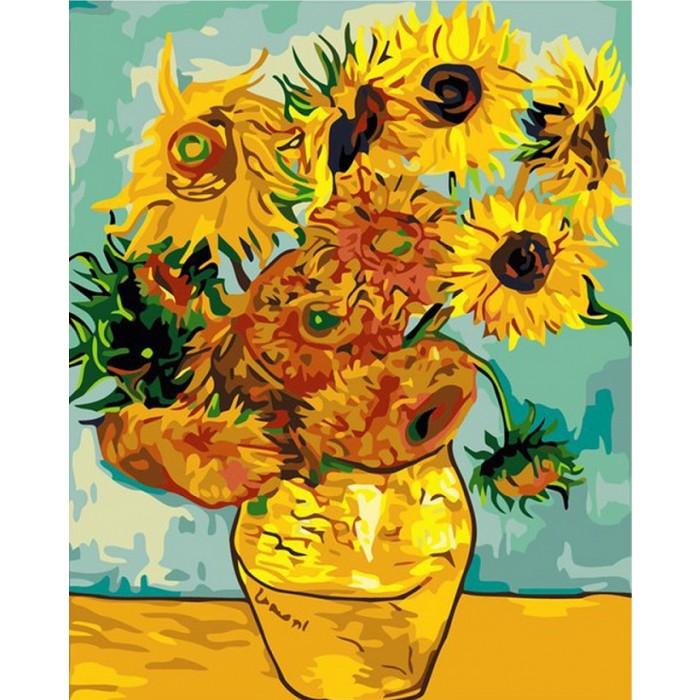 """Картина по номерам """"Подсолнухи Ван Гог"""" Идейка (КНО098 ..."""