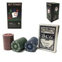 Игра покер маленький прямоугольный жетоны колода карт ... d8f8e2cdffcac